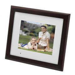 """NIEUW! Agfaphoto AF6085PS 8"""" digitale fotolijst met echt houten lijst"""