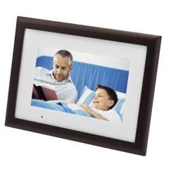 "Agfaphoto AF6105MS 10"" digitale fotolijst met echt houten lijst"