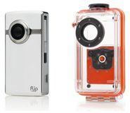 Flip Najaarsactie: Flip Ultra HD (Wit) met Onderwater Beschermkap
