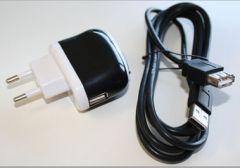 USB Lader met USB Verlengkabel