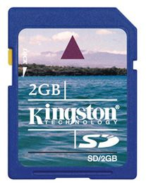 Kingston 2GB SD (Secure Digital) geheugenkaart