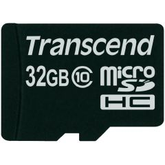 Transcend 32GB micro SDHC geheugenkaart Class 10